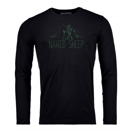 145 NAKED SHEEP LONG SLEEVE M - COL. BLACK RAVEN